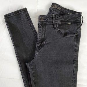 Black Mavi Gold Stretch skinny High rise jeans